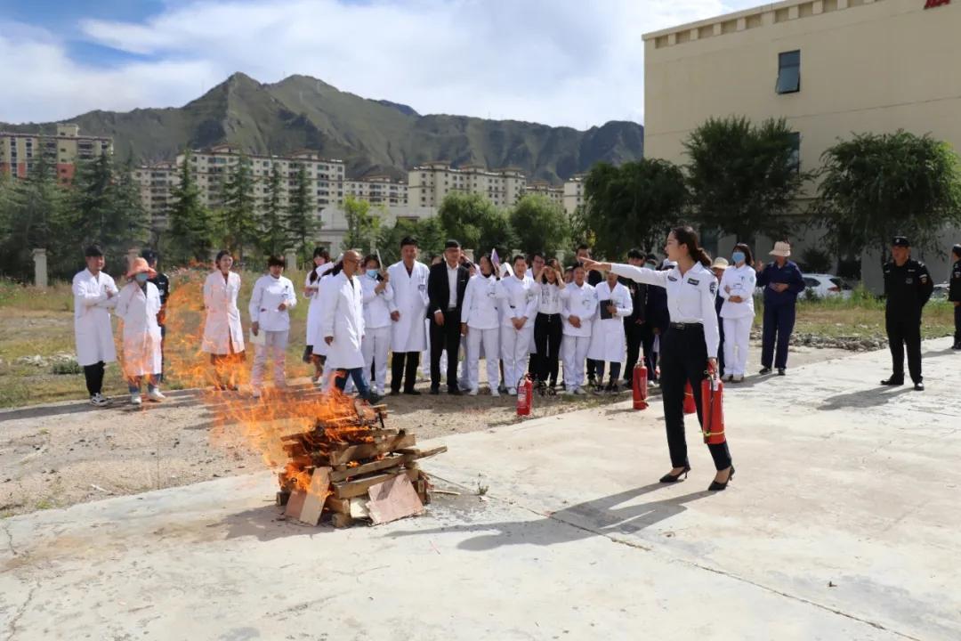 消防安全无小事 --四川省肿瘤医院拉萨分院在行动